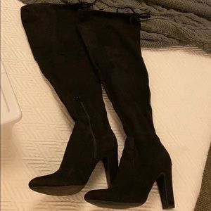 Black Faux suede over the knee boots size 8.5
